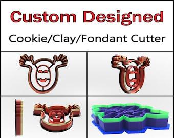 Custom Cookie Cutter, Clay Cutter, Fondant Cutter, Personalized Cookie Cutter Custom Cookie Cutter Design, 3D Print, Halloween Cookie