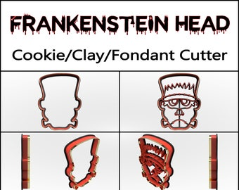 Frankenstein Head Cookie Cutter, 3D Printed, Halloween Cookie Cutter,  Halloween Gift, Clay Cutter, Fondant Cutter, FunOrders