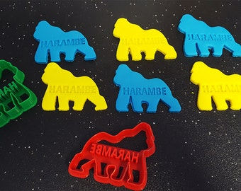 Harambe Cookie Cutter – Bakery Cookie Cutter,  Custom Cookie, Clay Cutter, Fondant Cutter, FunOrders, Halloween Gift