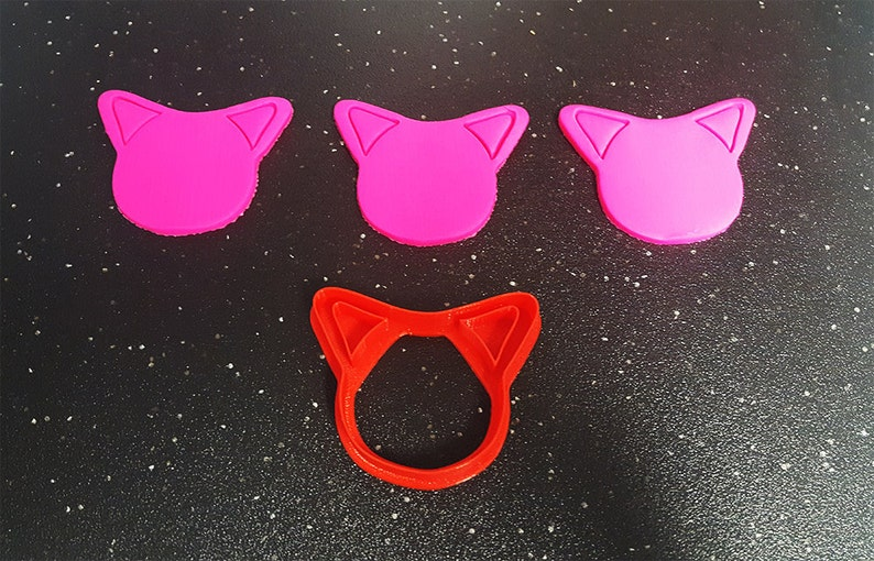 Cat Ear Cookie Cutter  Bakery Cookie Cutter Baby Cookie image 0