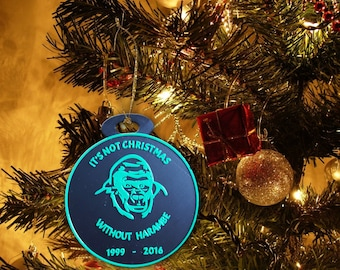 Harambe Christmas Ornament, It's Not Christmas Without Harambe, 3D Printed, Halloween Gift