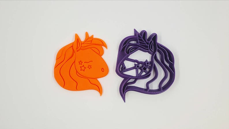 Unicorn Cookie Cutter Bakery Cookie Cutter Fantasy Cookie image 0