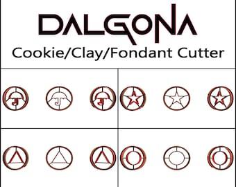 Dalgona Cookie Cutter, 3D Printed, Halloween Cookie Cutter, Squid Gift Cookie, Clay Cutter, Fondant Cutter, FunOrders