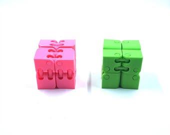 Fidget Cube, Stress Relief, Fidget Spinner Box, Fidget Box, Spinner Fidget Cube, Fidget Toy, 3D Printed, Halloween Gift