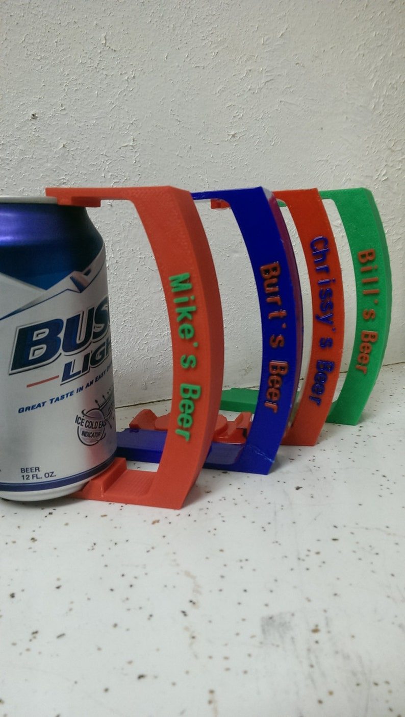 Can Holder with Custom name 12 oz Great for Soda Pop Beer image 0