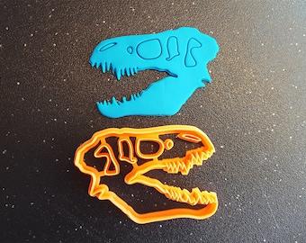 T-Rex Skull Cookie Cutter, Bakery Cookie Cutter, Rex Cookie Cutter, Fondant Cutter, Cookie Cutter, FunOrders, Halloween Gift