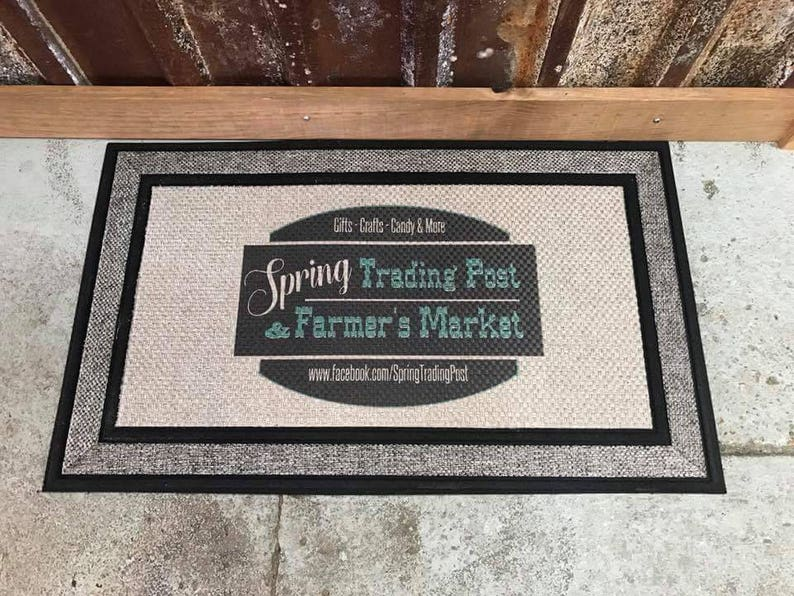 Custom Doormat with Full Color Image Full Color Business image 0