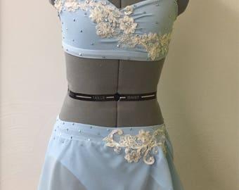 Light blue lyrical asymmetrical costume