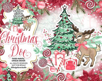 christmas doe design clip arts christmas candy christmas tree floral christmas tree doe gift holiday