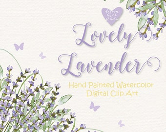 Watercolor Lavender flowers clipart, Watercolor flower, Purple, Watercolor Clipart,  Wedding Clip Art, wedding invitation