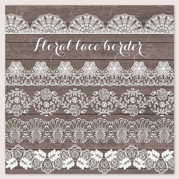 Lace Border Rustic Wedding Invitation Frame