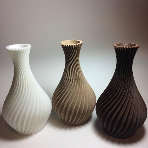 3d Printed Spiral Vase Planter Free Shipping Etsy