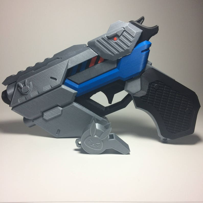 photo about Free 3d Printable D&d Miniatures known as 3D Revealed Overwatch officer D.va Prop Gun with no cost delivery United states of america
