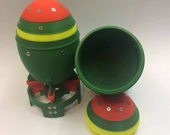 3D printed Fallout mini nuke storage container- Screw on