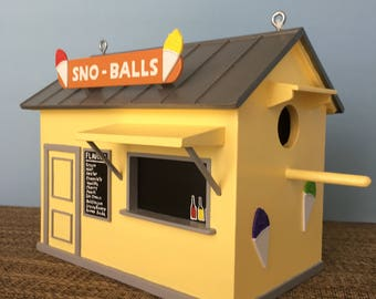 New Orleans Snowball Stand Birdhouse - Yellow