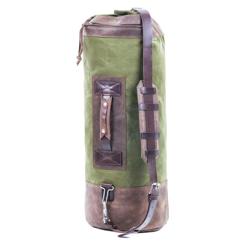 9556740fa8 Duffle bag by Kruk Garage Canvas and leather duffle bag