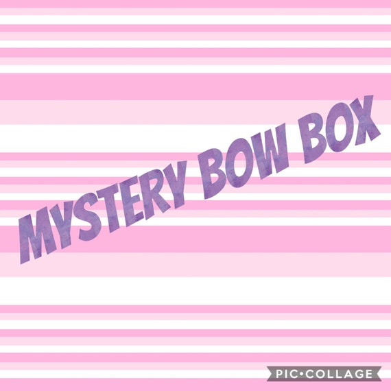 Bows for Girls Faux Leather Bows Surprise Inside Gifts for Girls Mystery Bow Box Double Layered Bows Baby Bows
