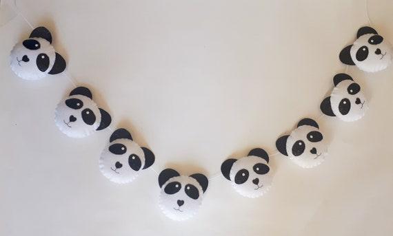Panda Garland Girls Bedroom Panda Decor Girls Nursery Felt Etsy