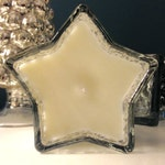 Private Listing:  Silver Mercury Glass Star Infused with pure Lemongrass Essential Oil, Handmade, Soy Wax Candle, 150ml Bespoke Candle