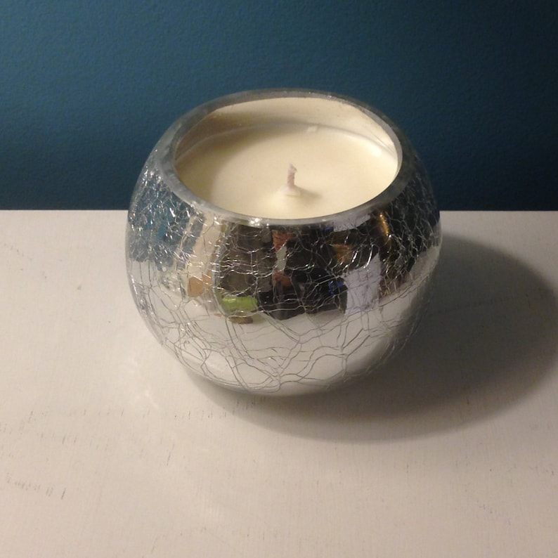 Fragranced Soy Candle Silver Crackle Glass Effect Jo Malone image 0