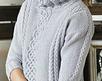 Cable oversized knit sweater women roll neck sweater soft cable pullover aran sweater knit sweater women roll neck sweater knit pullover