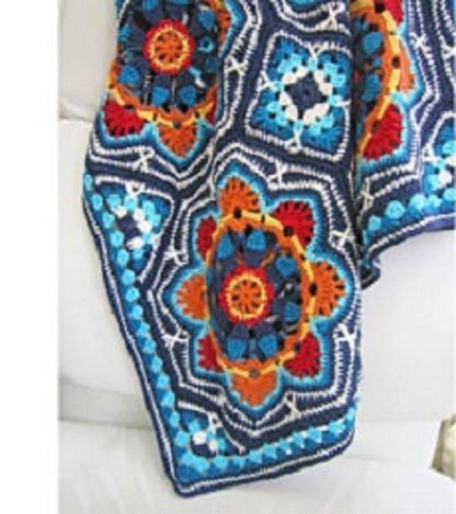 Häkeln Muster persische Fliesen Decke von Jane Crowfoot 12 | Etsy