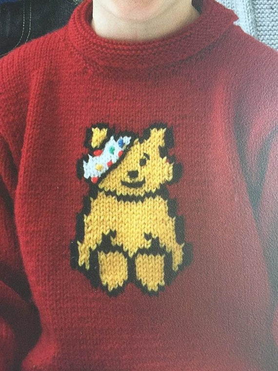 Pudsey Bear Knittingpattern All Funds Raised From These Etsy