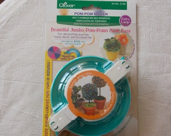 """Pom pom maker XL size Clover quality product makes a lovely creative gift or stockingfiller for pom pom size 105 mm diameter 4 1/2"""" inch"""
