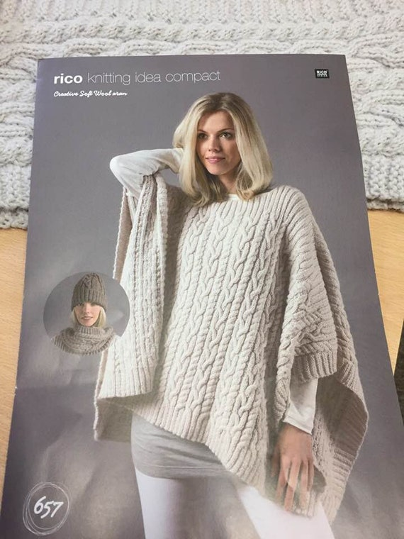Poncho Knitting Pattern Nr 657 Also With Hat And Snood Etsy
