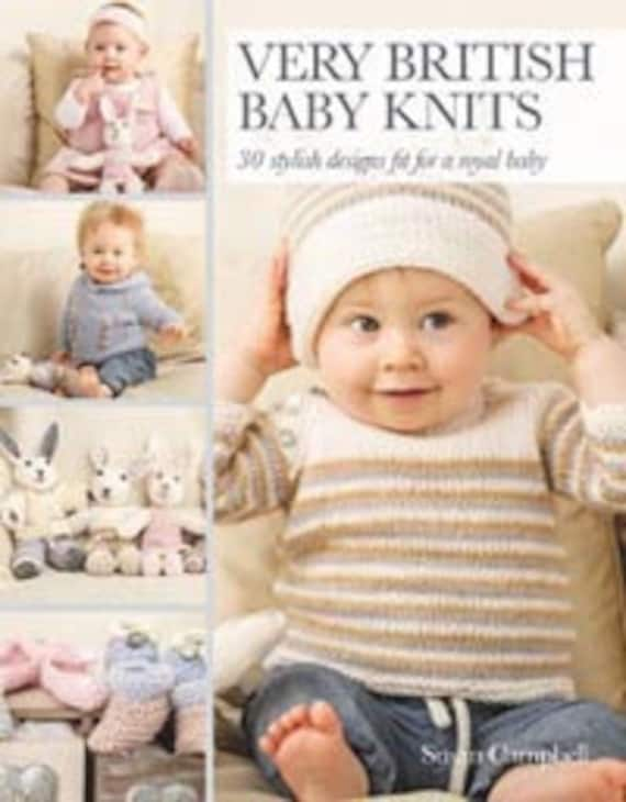 Baby Knitting Patterns Book Very British Baby Etsy