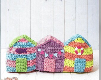 Crochet pattern beach huts from DMC