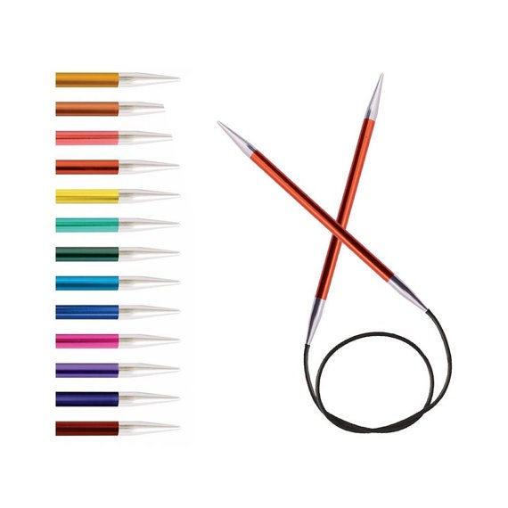 12mm or 13 Pairs KnitPro Zing Fixed Circular Knitting Needle 150cm size 2mm