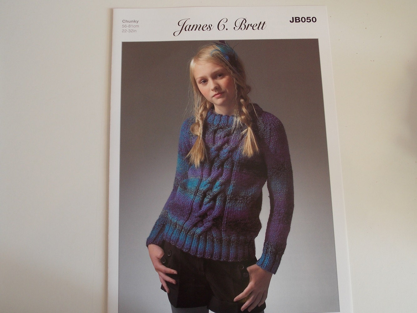 Knitting Pattern Sweater For Marble Chunky Yarn From James C Etsy