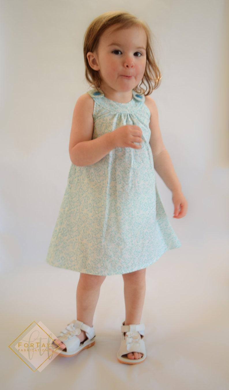 Aqua Dress A-line Dress SALE 12 Month Toddler Dress