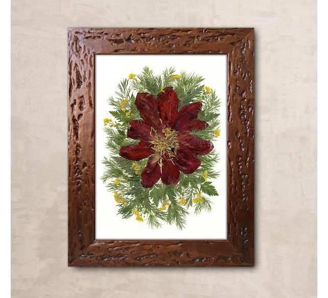 Pressed Flower Art Pressed Botanicals Dried Flower Frame Well Etsy