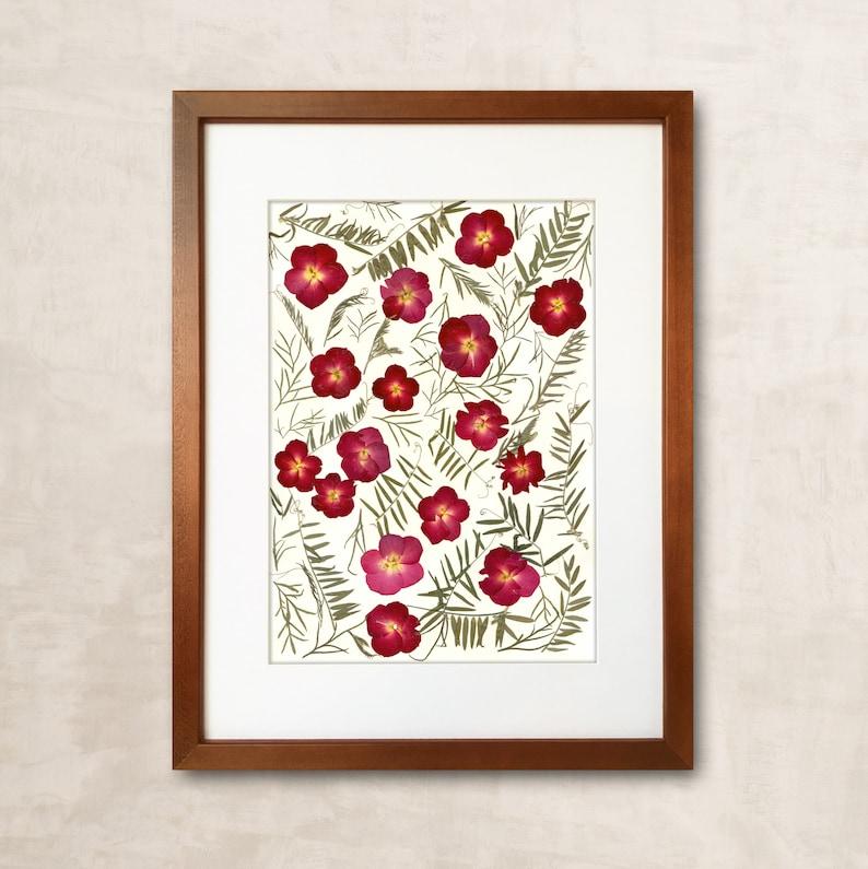 Gift For Home Pressed Flower Art Womens Gift Dried Flower Art  629f6553e