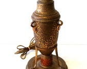 Arts and Craft Hammered Copper Table Lamp