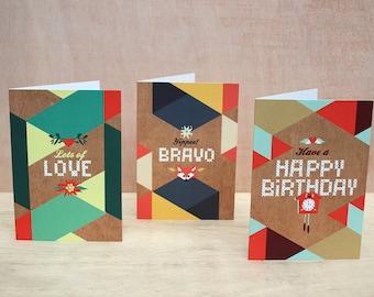 Greeting Cards GeoFolk