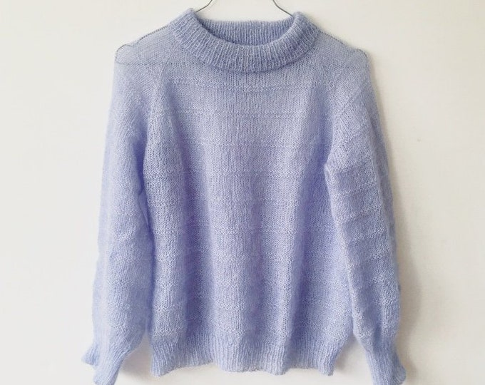Featured listing image: BLUESKY SWEATER Strikkeopskrift (pdf)- DK (danish)