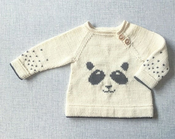 The Panda sweater - Knitting Pattern - PDF - English