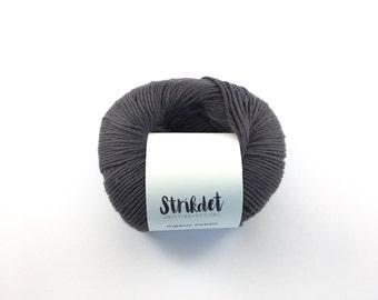 STRIKDET Organic Cotton Dusty Dark Blue / Økologisk Bomuld - Støvet Mørkeblå