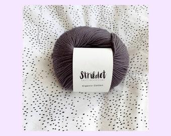 STRIKDET Organic Cotton Dark plum / Økologisk Bomuld - mørk blomme