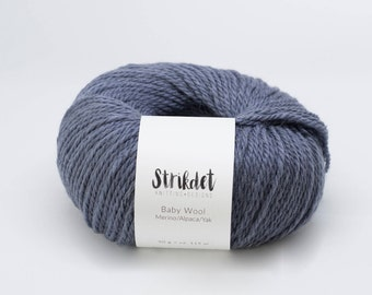 STRIKDET Baby Wool - dusty blue