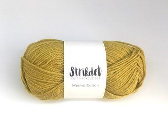 STRIKDET Merino Cotton - karry / curry