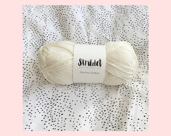 STRIKDET Merino Cotton - naturhvid / offwhite