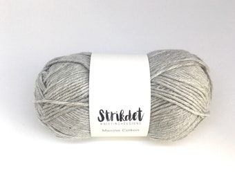 STRIKDET Merino Cotton - lysegrå / light grey
