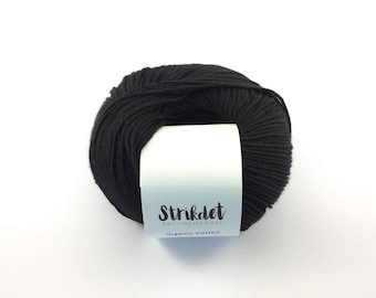 STRIKDET Organic Cotton Black / Økologisk Bomuld - Sort