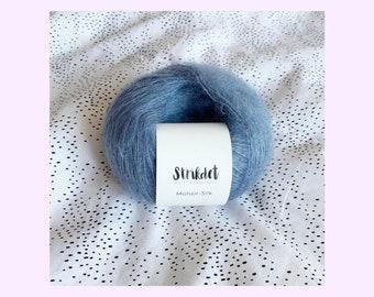 MOHAIR SILK støvet blå / dusty blue