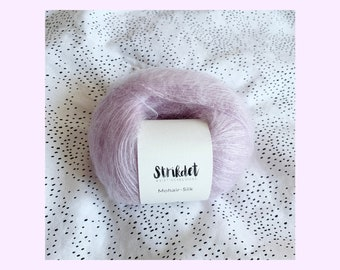 MOHAIR SILK lys syren / light lilac
