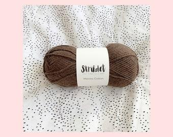 STRIKDET Merino Cotton - Chokolade